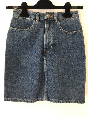 American Apparel Gonna di jeans blu-blu acciaio Cotone