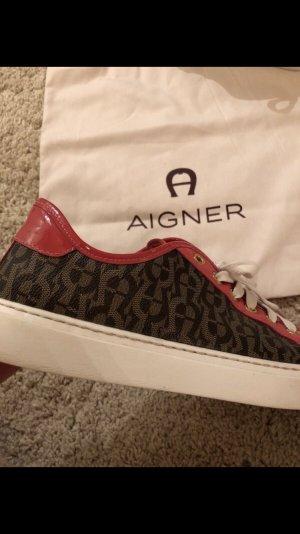 Aigner Sneakers met veters veelkleurig Leer