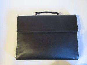 Hochwertige Aktentasche schwarz Schultertasche Umhängetasche Laptoptasche