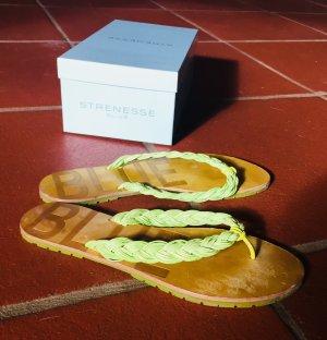 Blue Strenesse Flip flop sandalen lichtgroen-lichtgroen Leer