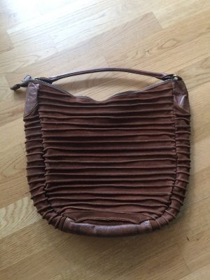 Fredsbruder Pouch Bag bronze-colored leather