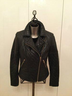 Hochwertige Bikerjacke aus Leder von Oakwood in schwarz Gr. L — NEU