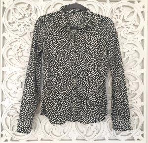 hochwertige Bluse von COMMA * schwarz weiß * Punkte * Gr. S 36 * wie NEU!