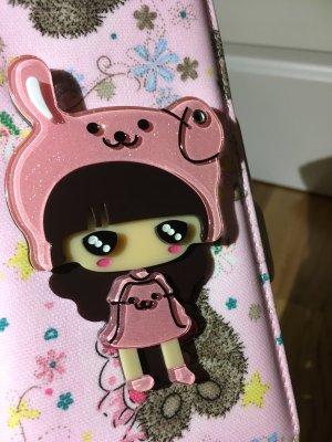 Hochwertige Clutch / Portemonnaie / Tasche in pink rosa hellbraun beige