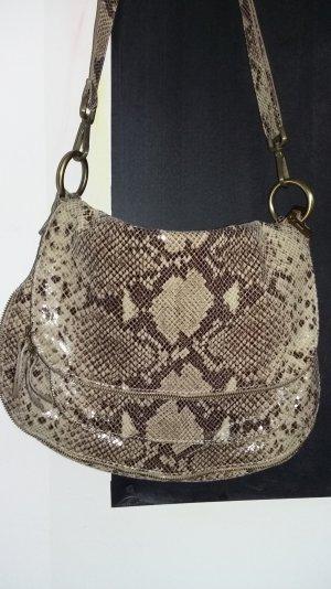 hochwertige Echtledertasche Schlangenlederoptik