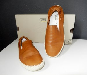 Camel Active Slip-on Shoes cognac-coloured-cream leather