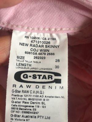 Hochwertige G-STAR Strech Jeans in Rosa  Gr. 28/30