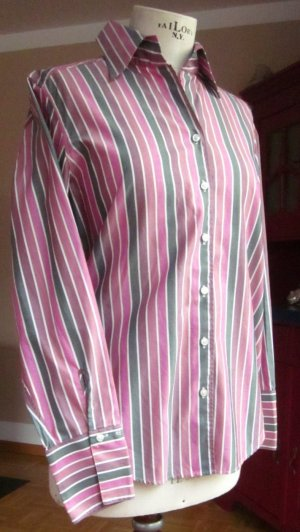 van Laack Blouse à manches longues multicolore coton