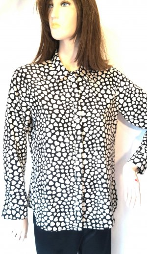 1.2.3 Paris Long Sleeve Blouse black-white polyester