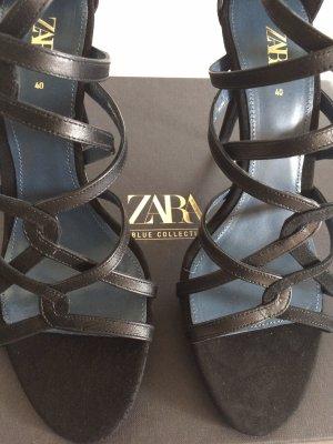 Zara High Heel Sandal black-dark blue
