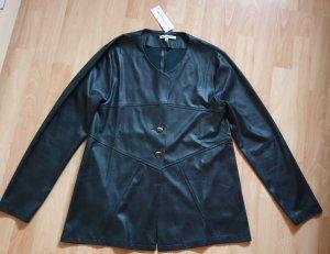 """Hochwertige Jacke aus Lederimitat """"dunkelgrün"""" Gr. 36 - NEU!"""