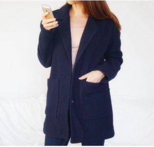 Cappotto taglie forti blu scuro
