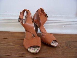 hochwertige Leder Sandaletten von VIENTY * made in Spain * Gr. 38 * NEU!