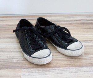 ASH Sneaker stringata nero-oro