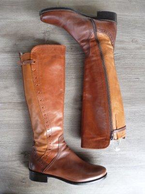 Hochwertige Lederstiefel aus dreifarbigem Leder