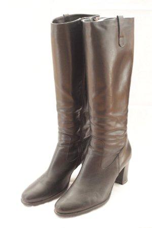 Heel Boots black leather