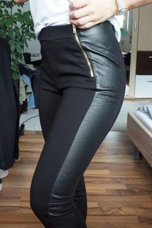 hochwertige Leggings mit Lederdetail