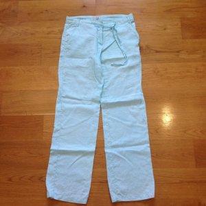 Zabaione Pantalon en lin bleu clair lin