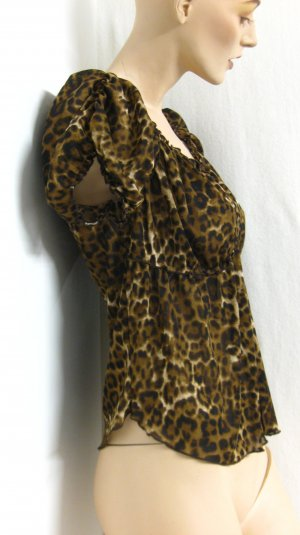 hochwertige Leo-Bluse, Gr.M/L