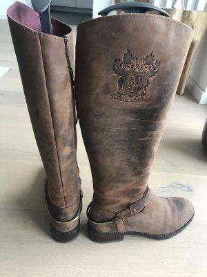 Marc O'Polo Botas de equitación marrón claro-marrón