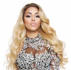 hochwertige Perücke Lace front Wig Blonde