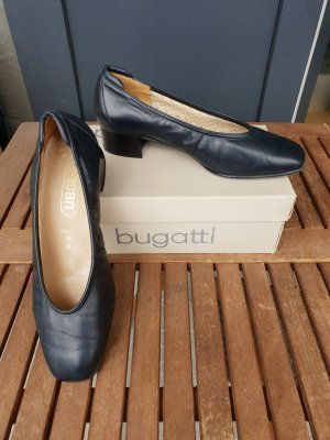 Chaussure décontractée bleu foncé cuir