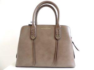 Polo Ralph Lauren Borsa con manico marrone-grigio Pelle