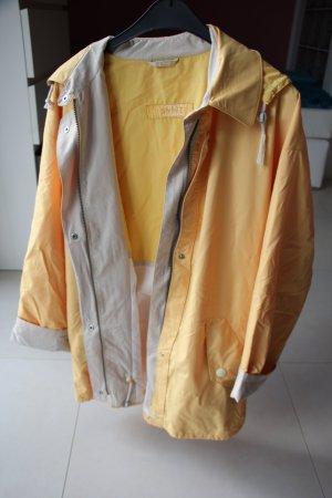 hochwertige Regenjacke wollweiß-hellgelb