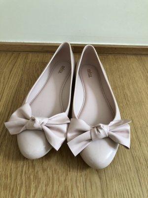 Hochwertige rosa Regen-Schleifchen-Ballerinas