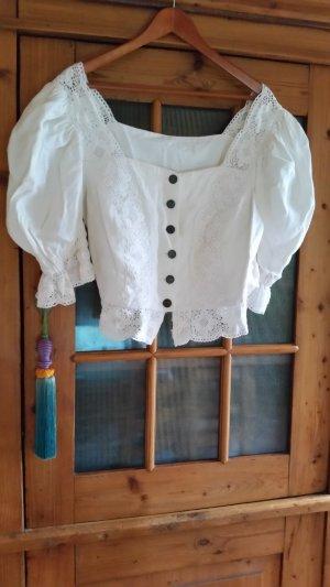 Folkloristische blouse wolwit Linnen