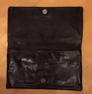 Hochwertige schwarze Clutch aus Leder von ABRO Abendtasche Athene