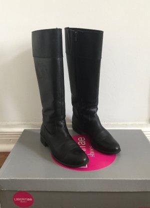 hochwertige schwarze Lederstiefel von LIBERITAE * Made in Spain * Gr. 38