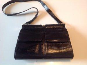 Hochwertige Schwarze Vintage Handtasche