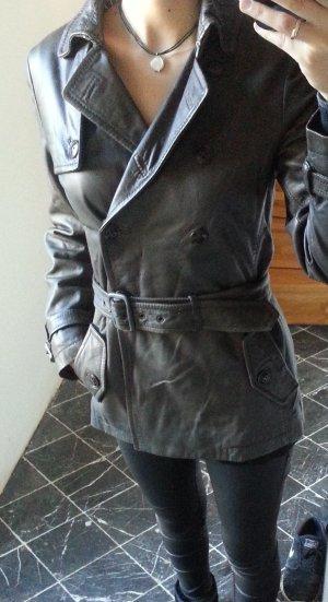 hochwertige, sehr weiche Lederjacke mit Gürtel