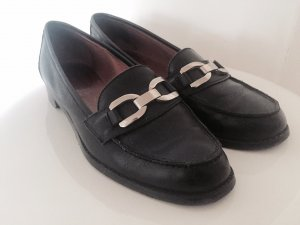 Peter Hahn Slippers black leather