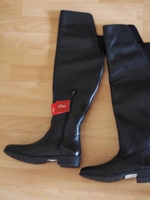 Hochwertige Stiefel aus Glattleder, neu, S.Oliver, Gr. 40, Damen
