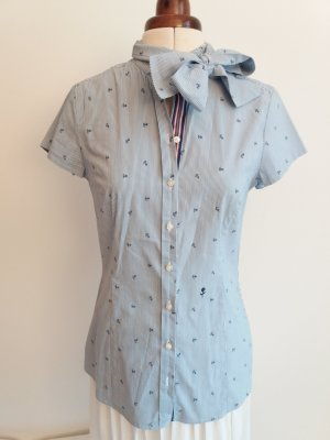 Seidensticker Tie-neck Blouse white-blue