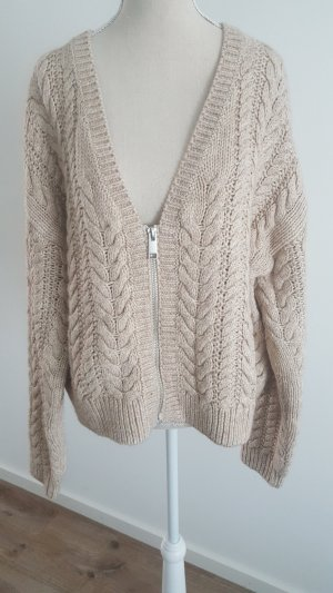 Coarse Knitted Jacket natural white-beige