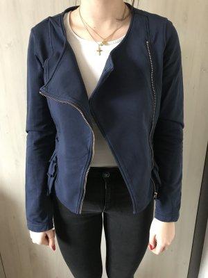 Sisley Chaqueta estilo camisa azul oscuro