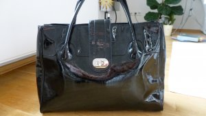 H&M Carry Bag black imitation leather