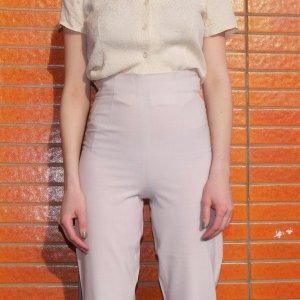 Joy Pantalon taille haute rosé laine