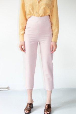 Joy Pantalón de cintura alta rosa Lana