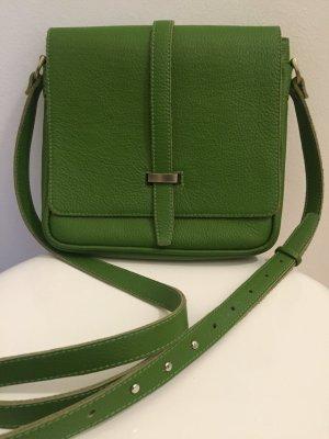 Hochwertige Umhängetasche Leder grün - Neuwertig
