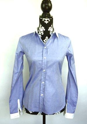 Woolrich Blouse white-azure cotton