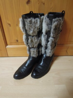 Jette Fur Boots multicolored leather