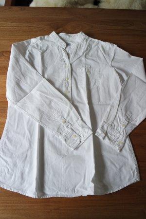 Hochwertige weiße Bluse von Rossana Diva Gr. 42 mit Stehkragen