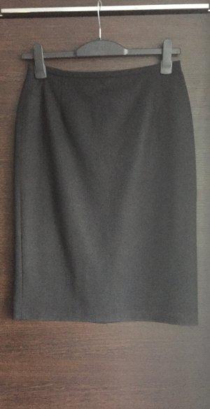 hochwertiger Bleistiftrock klassischer Stil schwarz