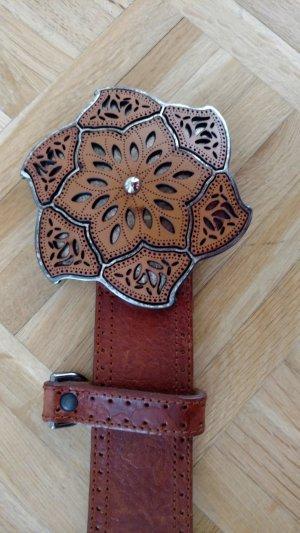 Bogner Belt cognac-coloured leather