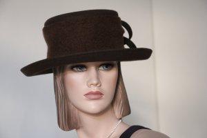 Sombrero de lana marrón oscuro Lana
