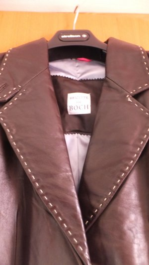 Bloch Leather Blazer brown-cognac-coloured leather